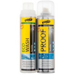 TOKO Duo - Pack Textille Proof and ECO Textile Wash 2 x 250ml - prací prášek + impregnace